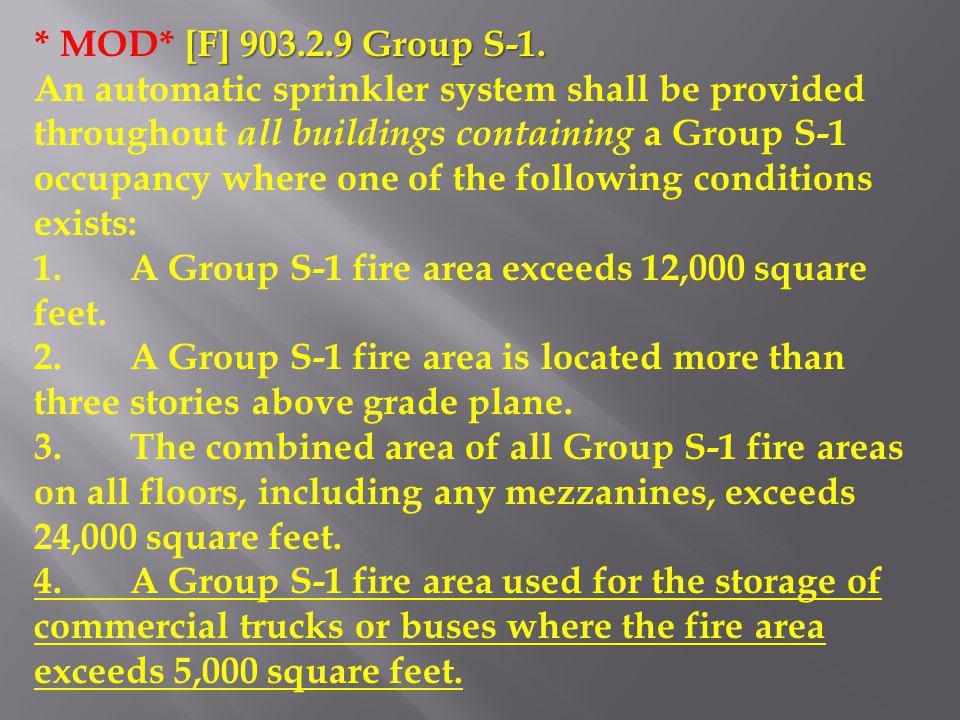 * MOD* [F] 903.2.9 Group S-1.